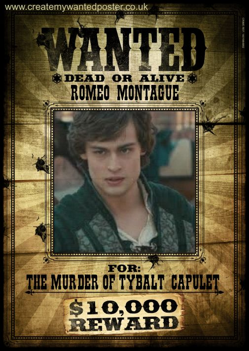 Wanted Poster Romeo And Julet